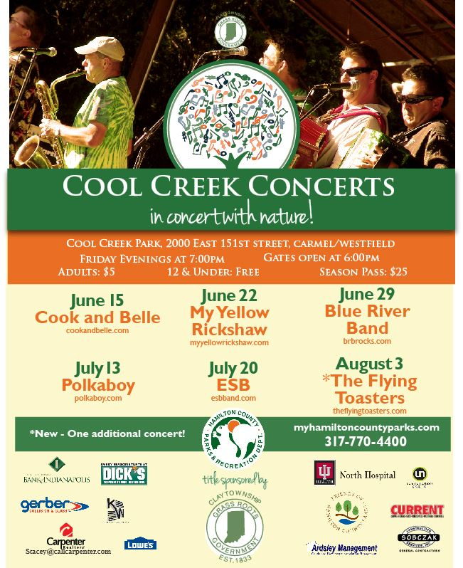 Cool Creek Summer Concerts flyer