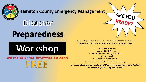 Preparedness Workshop Flyer