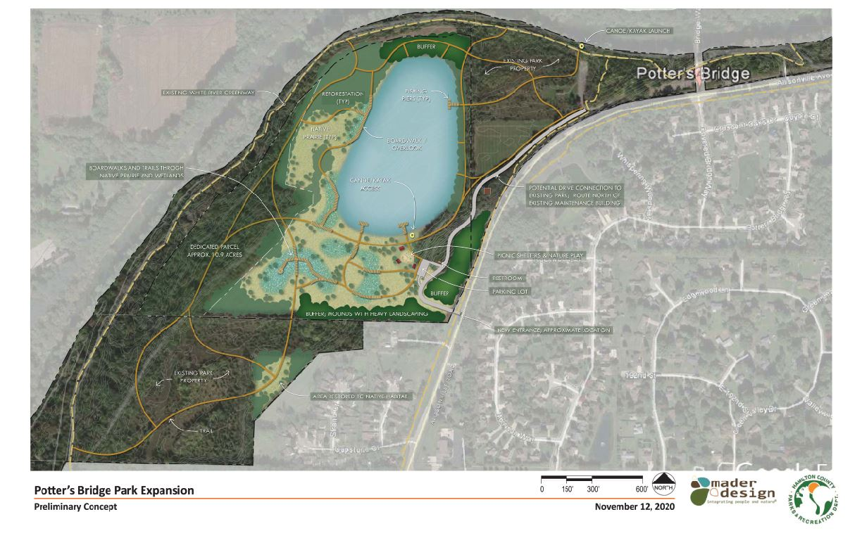 Potter's Bridge Park Expansion Master Plan and Phases Page 1