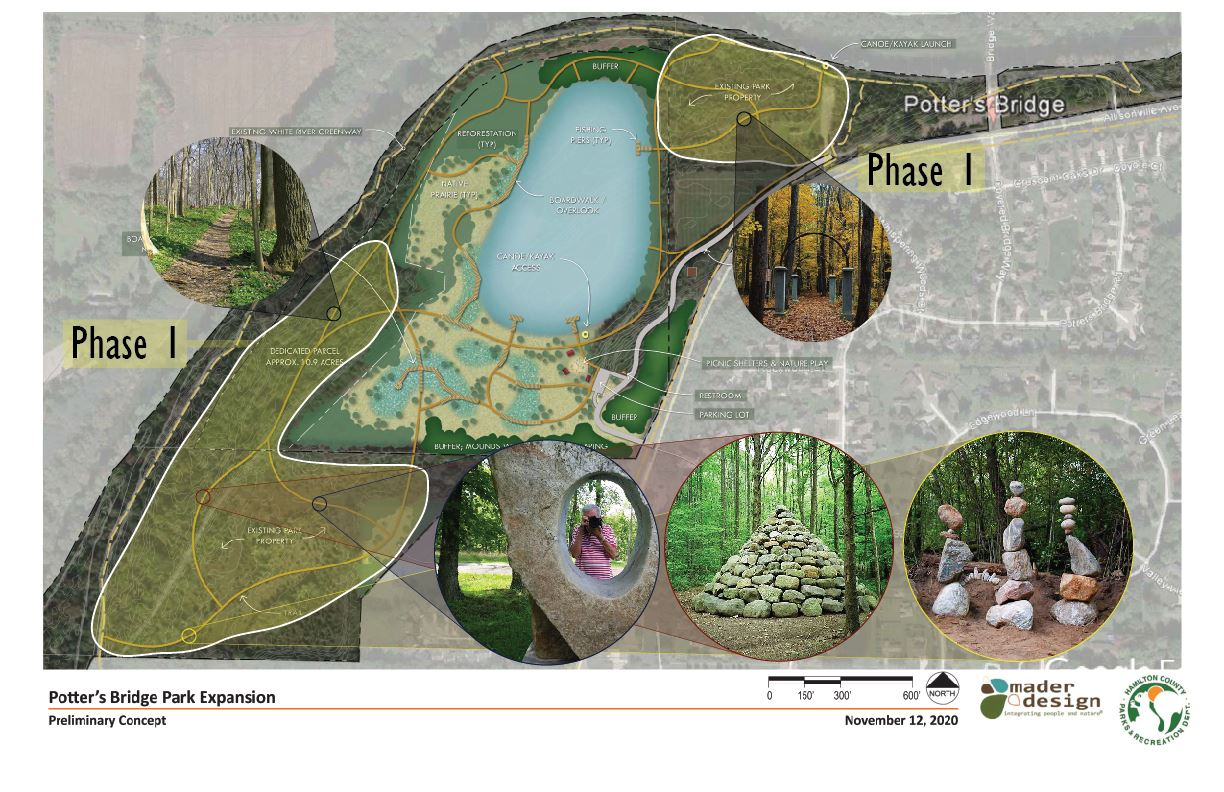 Potter's Bridge Park Expansion Master Plan and Phases Page 3