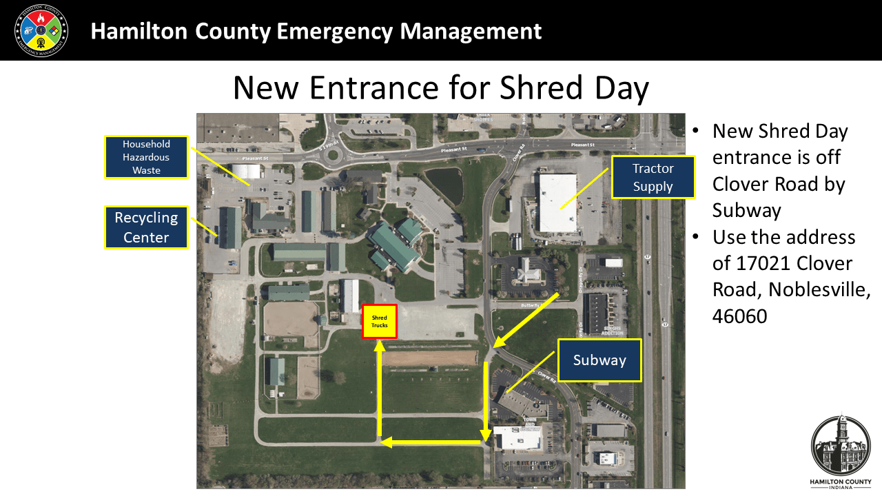 Hamilton Count Shred Day Map New Entrance