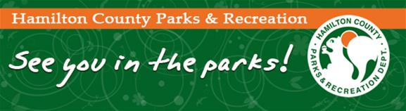 Hamilton Community Parks and Recreation banner logo with the tag &#39See you in the Parks!&#39