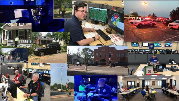 Collage of pictures of emergency response and special event support