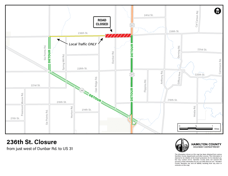 236th West Phase 3 Detour